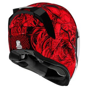 Kask ICON Airflite Krom red/black