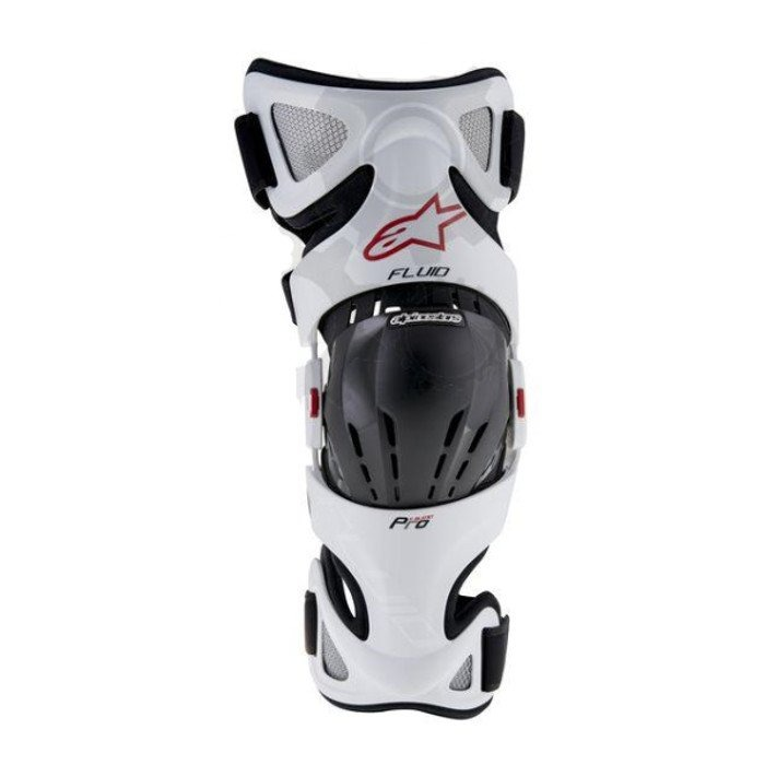 Orteza kolan ALPINESTARS Fluid Pro white/black/red (para)